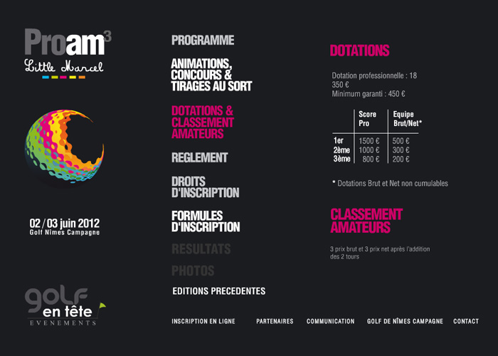 Mini-site Proam Little Marcel 2012